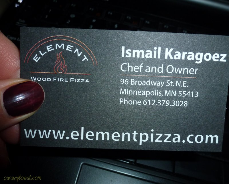 Element Pizza on ourwaytoeat.com