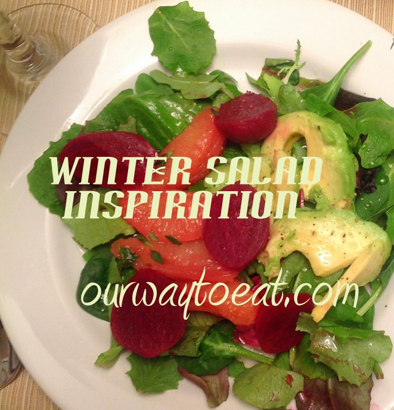 Mixed Greens with Beet, Grapefruit and Avocado with Grapefruit-Thyme Dressing