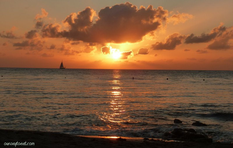 Amazing sunset from Cozumel