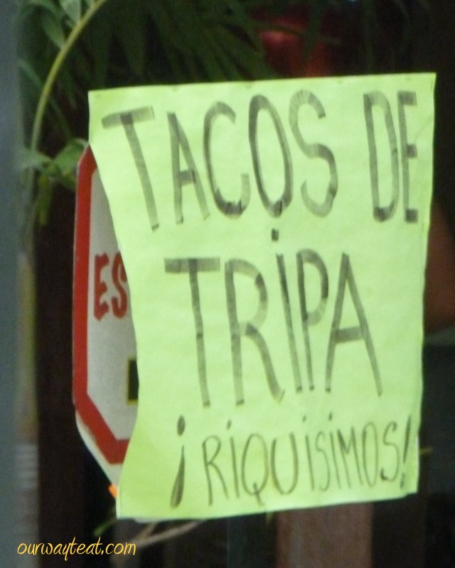 Tacos de Tripa on ourwaytoeat.com