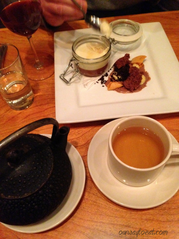 Pot Du Creme and Tea at Alma