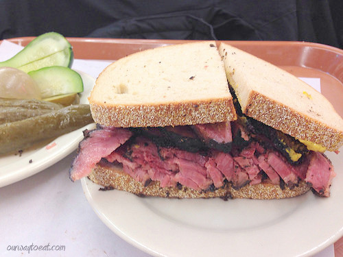 The Famous Katz's Pastrami on Rye ourwaytoeat